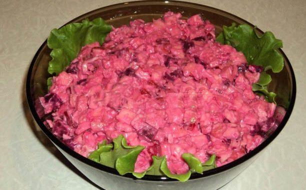 Свекольный салат с яблоками рецепт приготовления