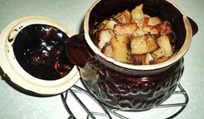 Жаркое из свинины в горшочке рецепт приготовления