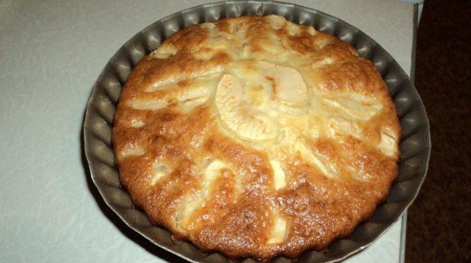 Яблочный пирог на кефире с одним яйцом рецепт