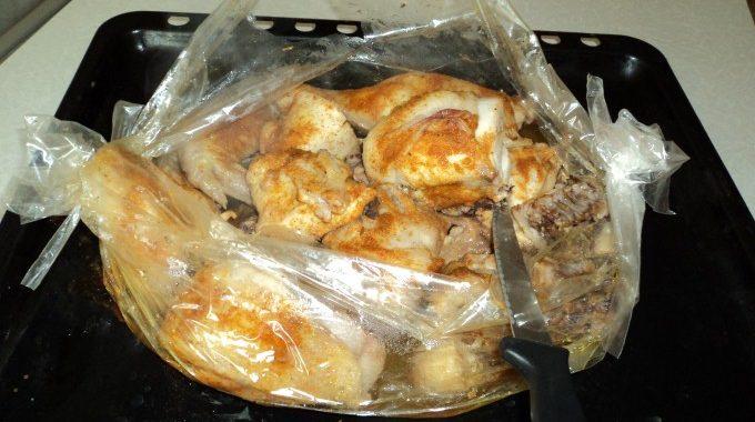 Курица запеченная в рукаве рецепт приготовления