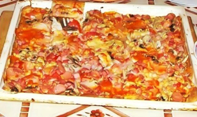 Студенческая пицца рецепт приготовления