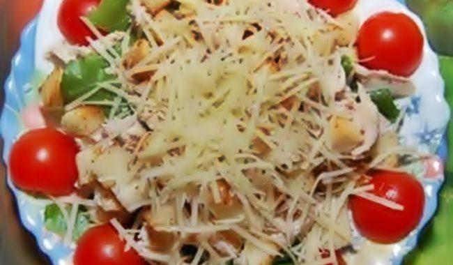 Салат «Цезарь» классический с курицей рецепт с фото