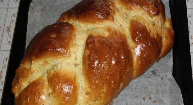 """Хлеб """"Хала с семечками"""" рецепт приготовления"""
