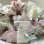 Салат из редиса и огурца пошаговый рецепт приготовления