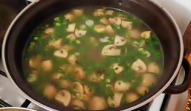 Грибной суп из шампиньонов с морковью рецепт приготовления