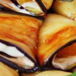 Рулетики из баклажанов с чесноком и майонезом рецепт