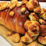 Слоеные пирожки в виде рога изобилия рецепт