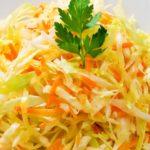 Салат из свежей капусты и моркови рецепт с фото