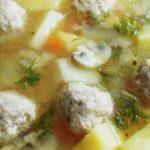 Суп из белых грибов с фрикадельками рецепт приготовления