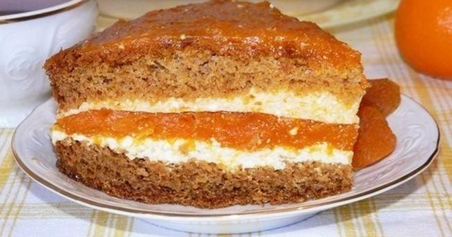 Торт с курагой рецепт приготовления