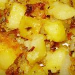 Картофель запеченный с луком рецепт приготовления