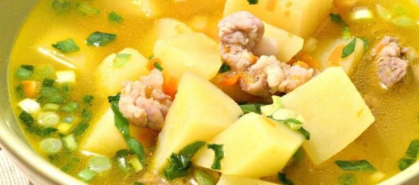 Суп-бульон с жарумой и картофелем рецепт приготовления
