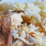 Кролик с грибами и рисом рецепт приготовления