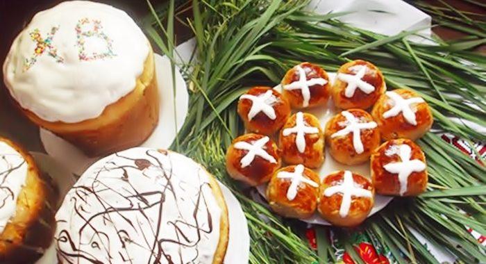 Пасхальная выпечка – крестовые булочки рецепт