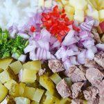 Мясной салат с рисом от Джейми Оливера рецепт