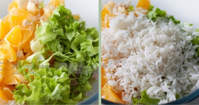 Рисовый салат с мандаринами рецепт приготовления