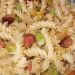Дачные макароны с кабачками и колбасой рецепт