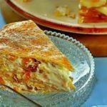 Сладкий блинный пирог рецепт приготовления