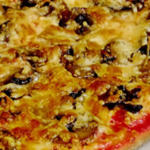 Рецепт пиццы с рисом и грибами