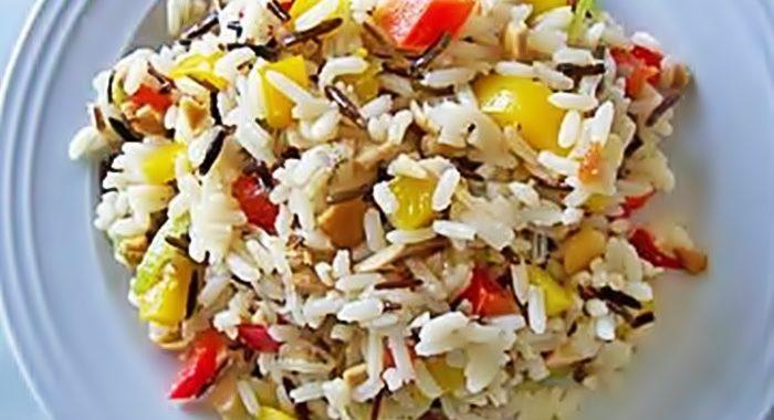 Салат из риса с орехами кешью рецепт приготовления