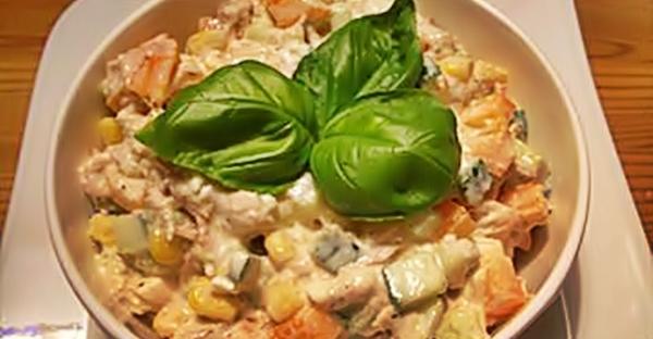 Салат с тунцом и сыром рецепт приготовления