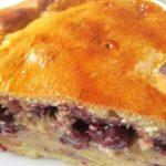 Вишневый пирог с заварным кремом рецепт
