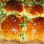 Булочки с чесноком и зеленью рецепт приготовления