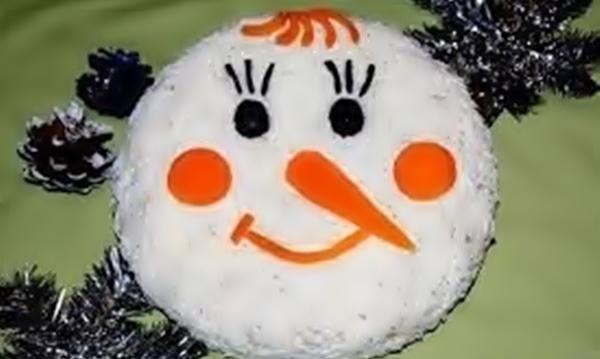 Салат «Снеговик» рецепт приготовления