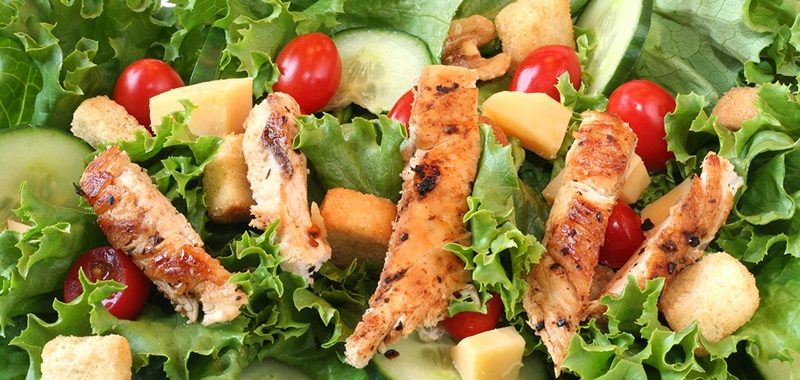 Салат с курицей гриль рецепт приготовления