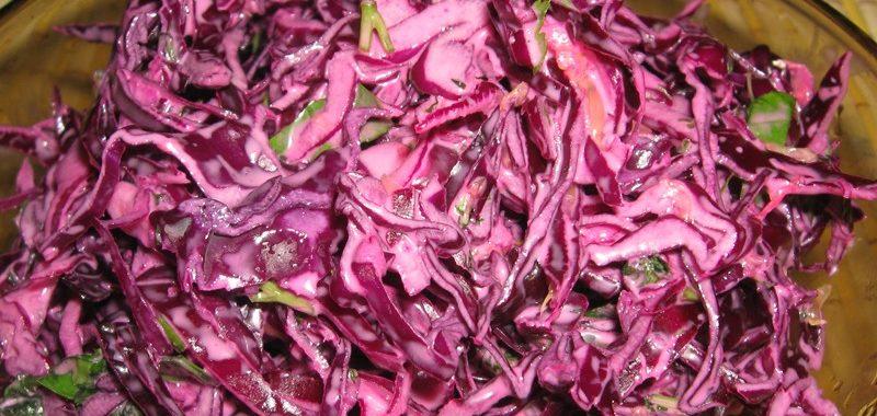 Салат из красной капусты рецепт приготовления