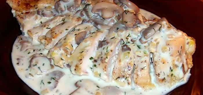 Куриное филе в сметане рецепт приготовления