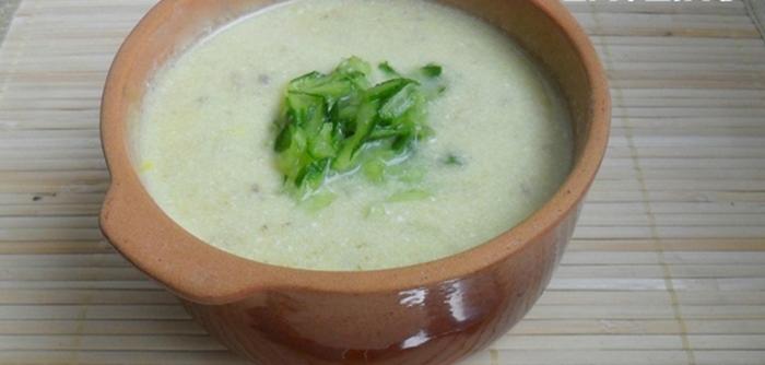 Крем-суп из огурцов рецепт приготовления