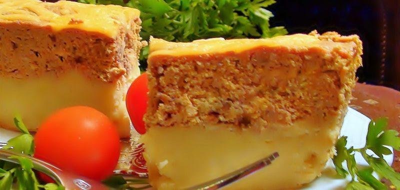 Печеночное суфле на картофельной перине рецепт