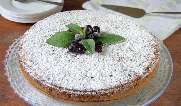 Пирог Зебра с грецкими орехами рецепт