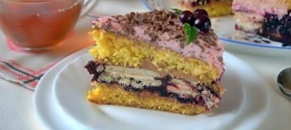 Торт «Ноктюрн» с черным шоколадом рецепт