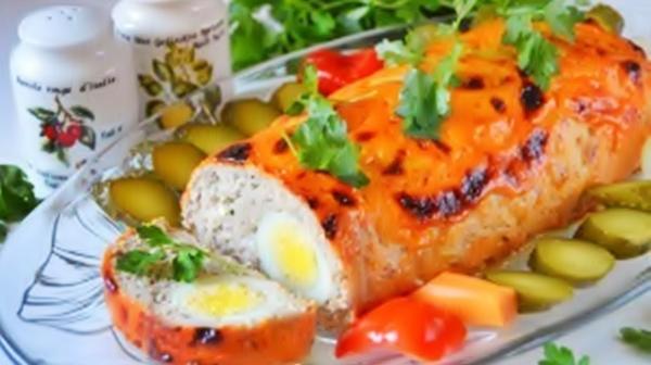 Мясной рулет с яйцами внутри рецепт приготовления