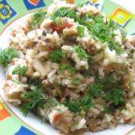 Рис с грибами и мясом рецепт приготовления