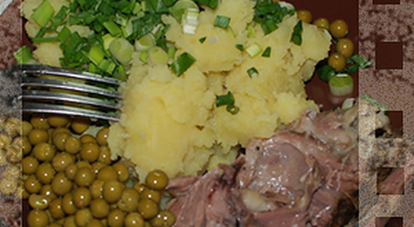 Томленая баранина с картофельным пюре рецепт