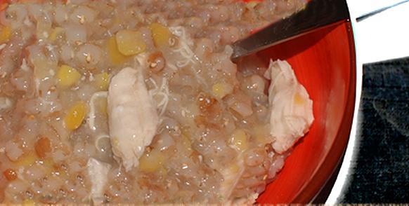 Сытная томленая каша из пшеницы и гороха рецепт