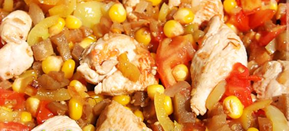 Курица с овощами в стиле Tex-Mex рецепт