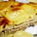 Запеченный картофель с мясным фаршем рецепт