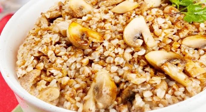 Гречневая каша с грибами рецепт приготовления