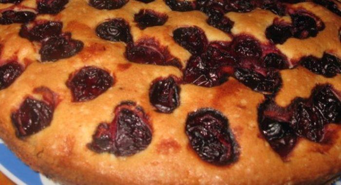 Пирог с вишнями рецепт приготовления