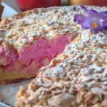 Песочный пирог с вишневым безе и яблочной начинкой рецепт