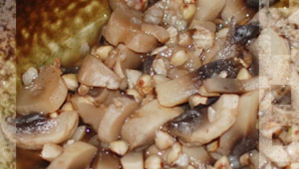 Зеленая гречка с грибами рецепт приготовления