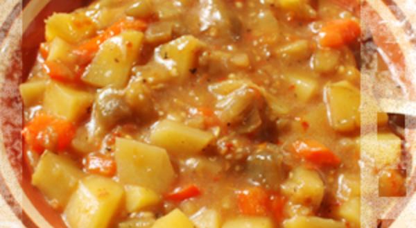 Густое овощное рагу в томатно-рисовом соусе рецепт