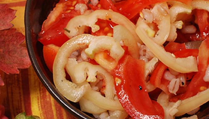 Овощной салат с перловой крупой рецепт