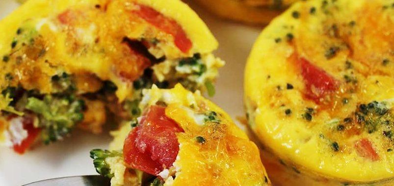 Маффины с брокколи и помидорами рецепт приготовления