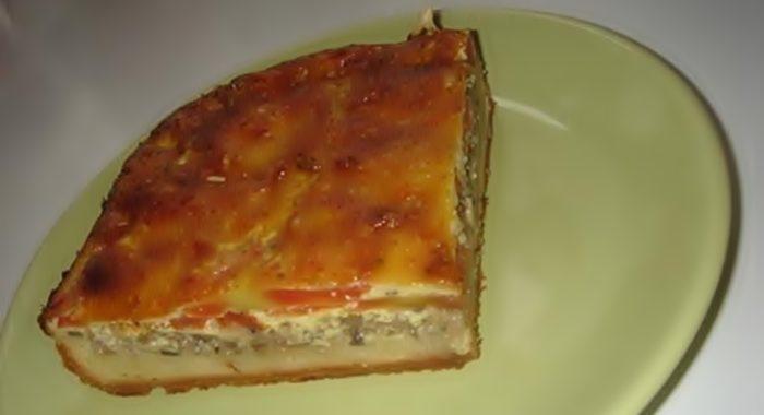Пирог с шампиньонами рецепт приготовления