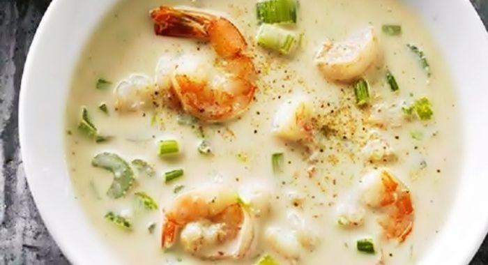 Сырный суп с креветками рецепт приготовления